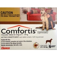 COMFORTIS TAB 27.1-54KG 1620MG 6 CHEWABLE BROWN DOG