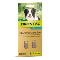 DRONTAL ALLWORMER DOG 10KG 2 CHEWABLE