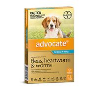 ADVOCATE DOG 4-10KG AQUA 3 FLEA WORM ETC