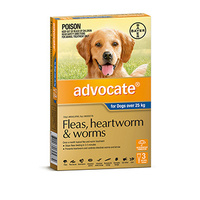ADVOCATE DOG 25-50KG BLUE 3 FLEA WORM ETC