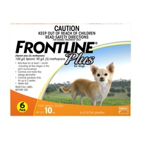 FRONTLINE PLUS DOG <10KG ORANGE 3'S