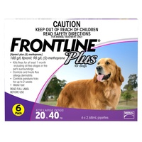 FRONTLINE PLUS DOG 20-40KG PURPLE 6'S