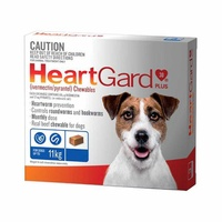 HEARTGARD PLUS CHEWABLE <11KG BLUE 6'S