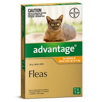 ADVANTAGE SINGLES KITTEN/SMALL 0.4 ML CATS UP TO 4KG