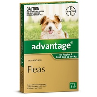 ADVANTAGE SINGLE PUPPIES 0.4ML PUPPIES/SMALL DOGS UP TO 4KG