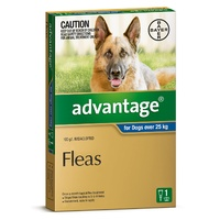 ADVANTAGE SINGLES DOGS 4.0ML DOGS OVER 25KG (EXTRA LARGE)