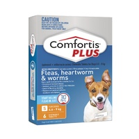 COMFORTIS PLUS 4.6-9KG 270MG 6 PACK CHEWABLE ORANGE