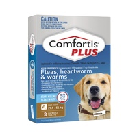 COMFORTIS PLUS 27.1-54KG1620MG 3 PACK CHEWABLE BROWN