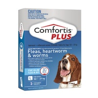 COMFORTIS PLUS 18.1-27KG 810MG 3 PACK CHEWABLE BLUE