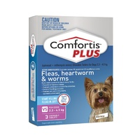 COMFORTIS PLUS 2.3-4.5KG 140MG 3 PACK CHEWABLE PINK