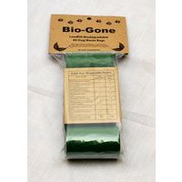 Bio-Gone Landfill Biodegradable Dog Poo Bags - 4 Roll (80 bags) Pack