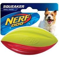 "4"" HYDRO SPORT TPR Squeak Football - Red/Green"