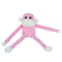 Spencer the Crinkle Monkey - Pink