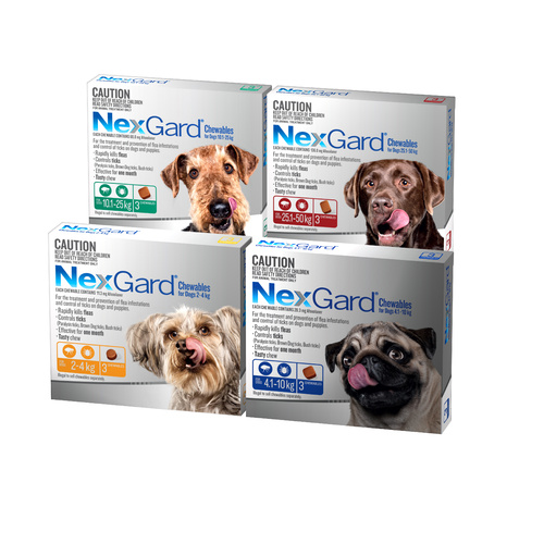 NEXGARD 3-PACK FOR DOGS 10.1-25KG