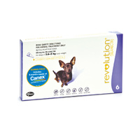 Revolution Flea Control for Dogs 2.6-5kg Bonus All Wormer 6 Pack