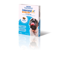 Interceptor for Dogs Chewable Wormer - Blue - Large Dogs 22-45kg - 3-Pack