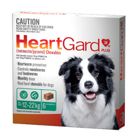 Heartgard 30 Plus Chews for Medium Dogs 12-22kg Green (6s)