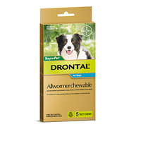 Drontal All-Wormer for Medium Dogs up to 10kg - 5 Chews