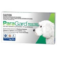 PARAGARD DOGS UPTO 5KG 4 TABS ALLWORMER
