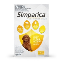 Simparica 1.3-2.5Kg 5Mg 3 Pk Puppy & Small Dog Yellowâ