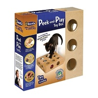 Smart Cat Original Peek-and-Play Interactive Cat Toy Box with Bonus Toys
