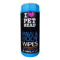 Pet Head Orangelicious Paw & Body Dog Wipes 50-Pack