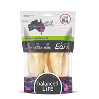 Balanced Life Australian Lamb Ears Dog Treat - 3 pieces