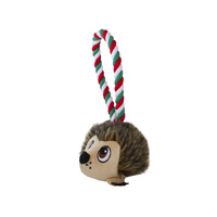 Outward Hound Holiday Rope Tuggiez Hedgehog