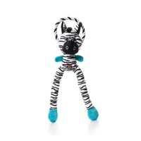 Thunda Tugga Leggy Zebra (Large) Dog Toy by Charming Pet