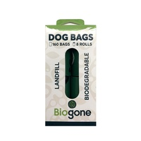 Bio-Gone Biodegradable Dog & Cat Poo Bags - 8 rolls/160 bags NEW PACKAGING