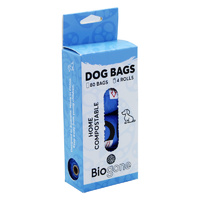 Bio-Gone Compostable Dog Waste Bags 4 Rolls (80 Bags)