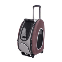 Ibiyaya Convertible Pet Carrier with Wheels - Chocolate
