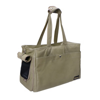 Canvas Pet Tote - Light Green