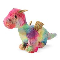 Fringe Studio Rainbow Dragon Plush Squeaker Dog Toy