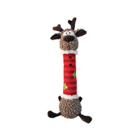 KONG Christmas Holiday Dog Shakers Luvs Reindeer Dog Toy