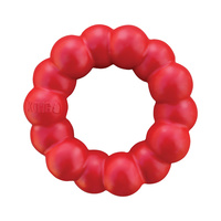 KONG Natural Red Rubber Ring Dog Toy for Healthy Teeth & Gums - Small/Medium