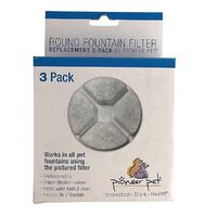 Replacement Filters for the Pioneer Pet Vortex Fountain - Pack of 3