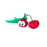 Petstages Dental Cherries Teeth Cleaning Cat Chew Toy with Catnip