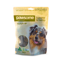 Banana And Hemp Dog Treats 250G By Pawsome Organics