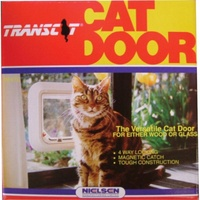 Transcat Lockable Pet Door for Cats & Small Dogs - White