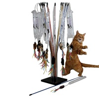 PURRfect Go-Fur-It Interactive Cat Toy with Springy Wand & Teasers
