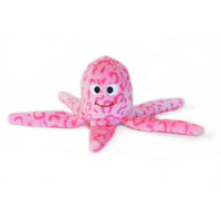 Zippy Paws Floppy Jelly Pink Octopus Squeaker Plush Dog Toy