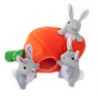 Zippy Paws Interactive Burrow Dog Toy - Bunny 'n Carrot