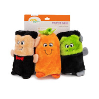 Zippy Paws Halloween Colossal Squeaker Buddie Dog Toy No Stuffing - 3-Pack