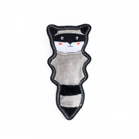Zippy Paws Skinny Peltz No Stuffing Squeaker Dog Toy - Raccoon