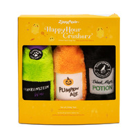 Zippy Paws Happy Hour Halloween Crusherz Squeaker Bottle Dog Toy - 3-Pack