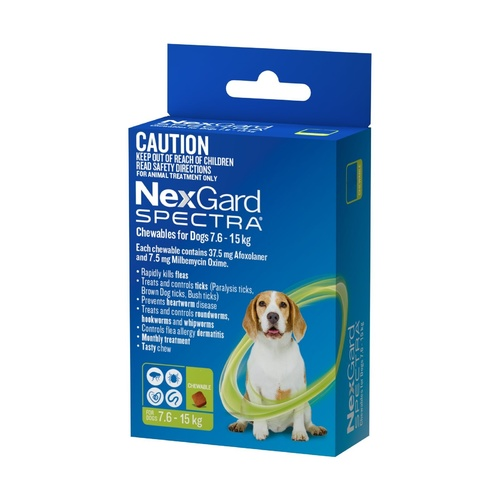 Nexgard Spectra for Dogs 7.6 -15KG - 3-Pack