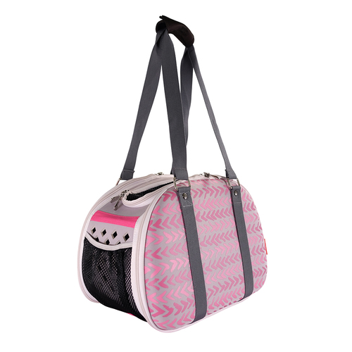 Ibiyaya Hardshell Travel Carrier for Cats & Dogs up to 5kg - Pink Chevron