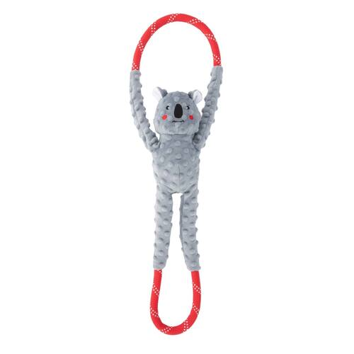 Zippy Paws RopeTugz Squeaker Dog Toy with Rope - Koala